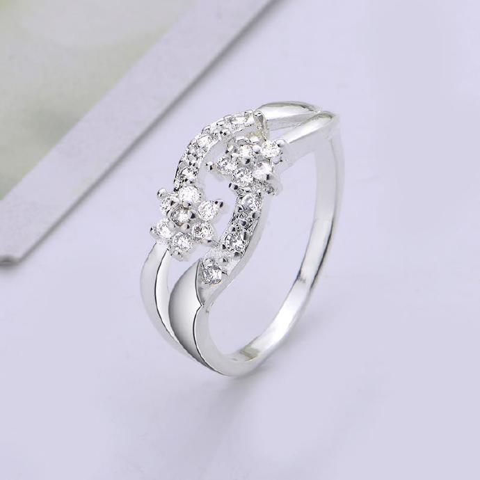 grande zirconia size solid sided white both collections rings lady ladies band gold ring img