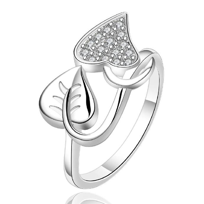 Jenny Jewelry R557-8 Silver Plated New Design Lady Ring ,Available Size 7,8