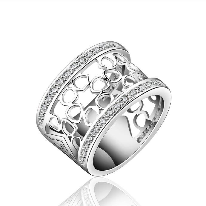 Jenny Jewelry R571 Silver Plated New Design Lady Ring