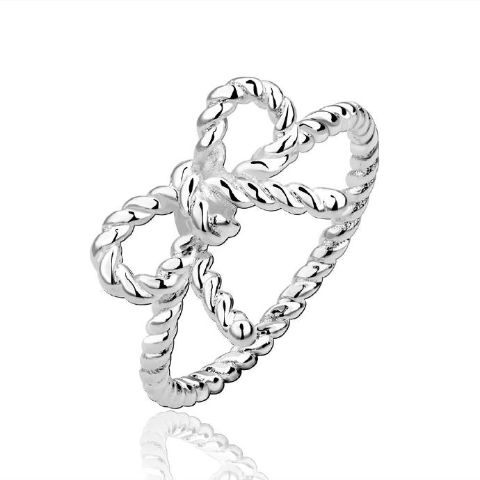 Jenny Jewelry R611 Silver Plated New Design Lady Ring