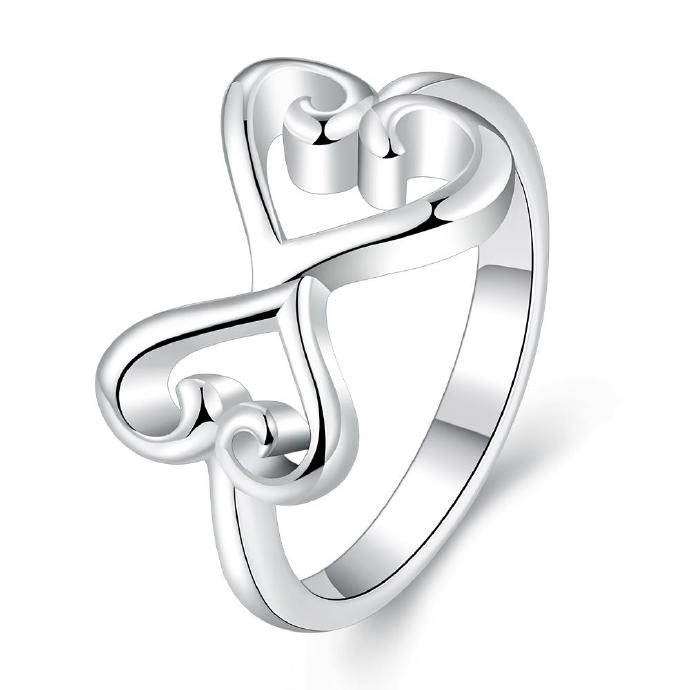 Jenny Jewelry R699 Silver Plated New Design Lady Ring