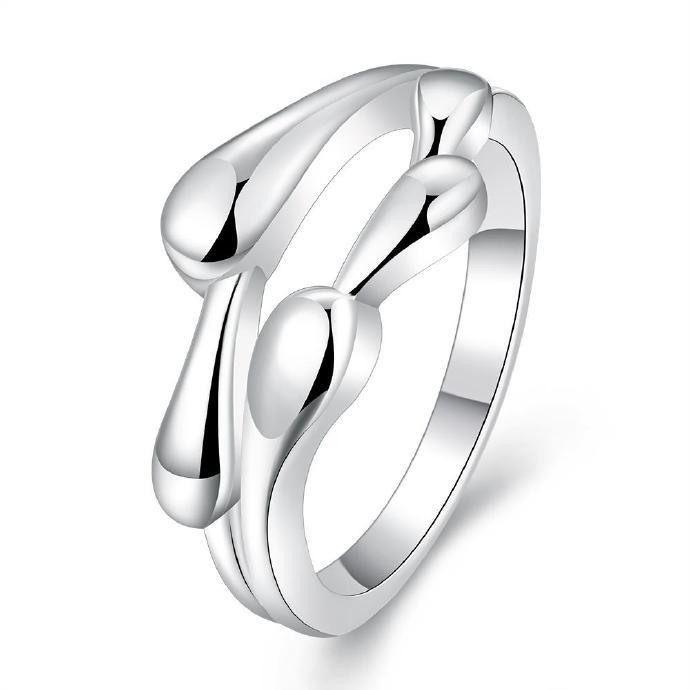 Jenny Jewelry R701 Silver Plated New Design Lady Ring