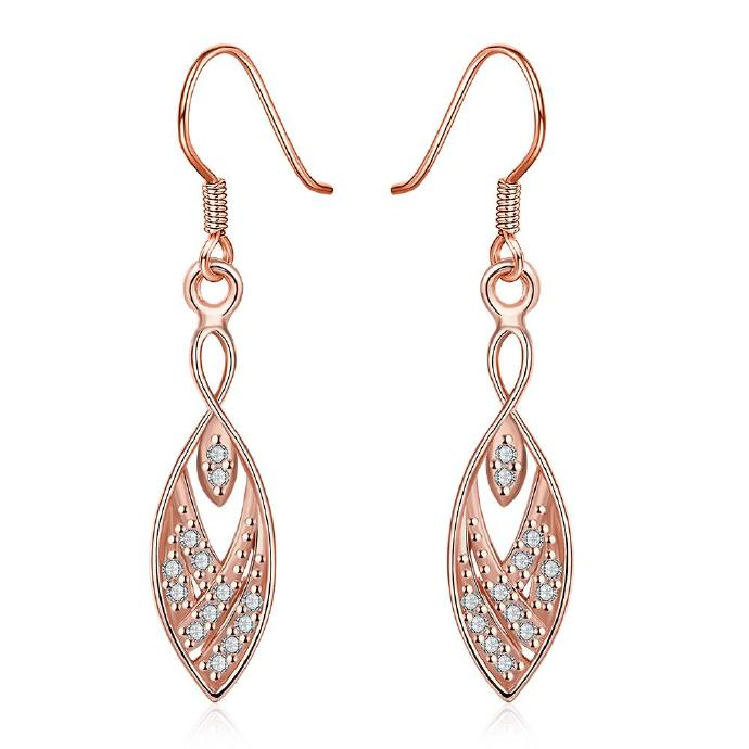 Jenny Jewelry E004-B 18K Gold Plating High Quality Ziccon Fashion Earring