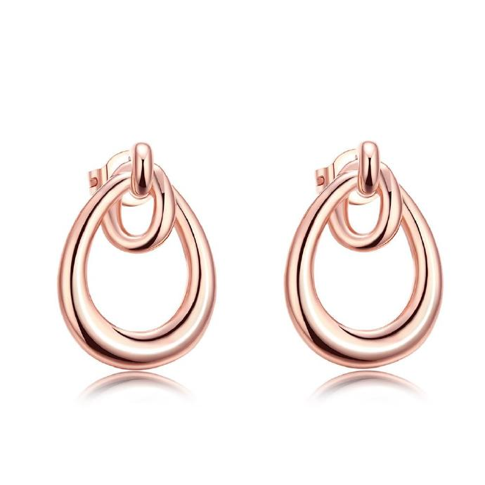 Jenny Jewelry E019 New Fashion Jewelry Real Gold Plated Earring
