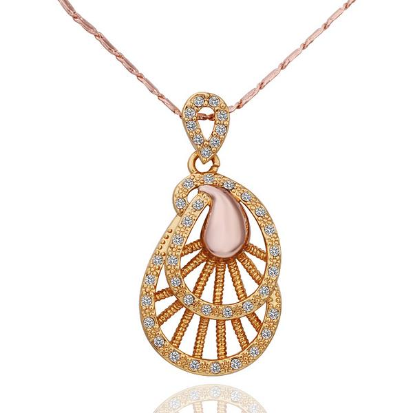 Jenny Jewelry N574 18K Real Gold Plated Boho Style Italian Gold Plating Pendant Necklace