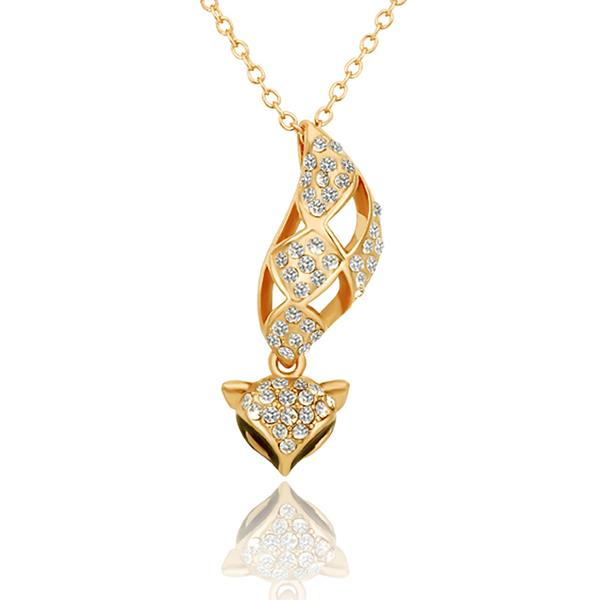 Jenny Jewelry N616 18K Real Gold Plated Animal Style Fox Shape Fashion Necklace