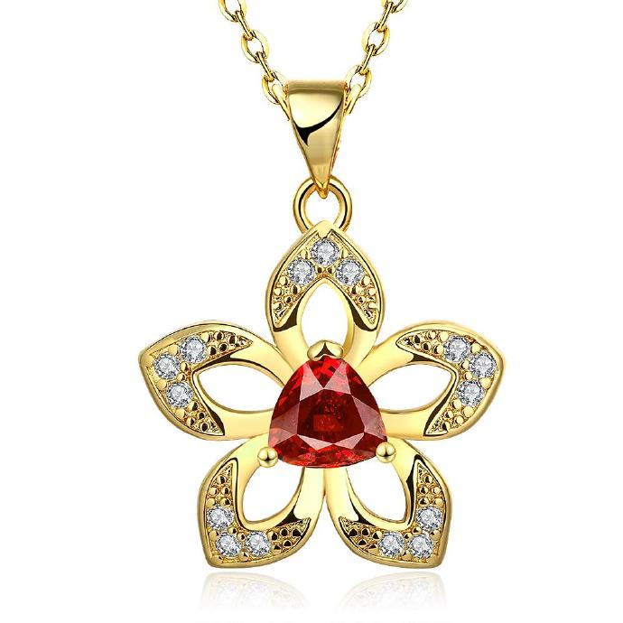 Jenny Jewelry N892-A 18K Real Gold Plated Necklace pendants New Fashion Jewelry
