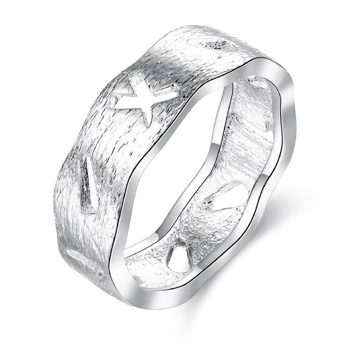 Jenny Jewelry R752 Silver Plated New Design Lady Ring