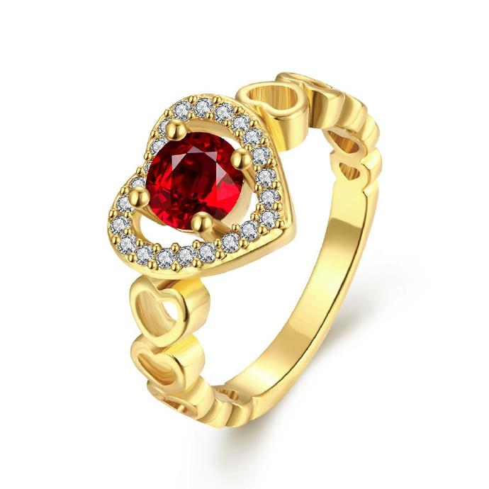 Jenny Jewelry R214-A-8 High Quality New Fashion Jewelry Gold Plated zircon Ring