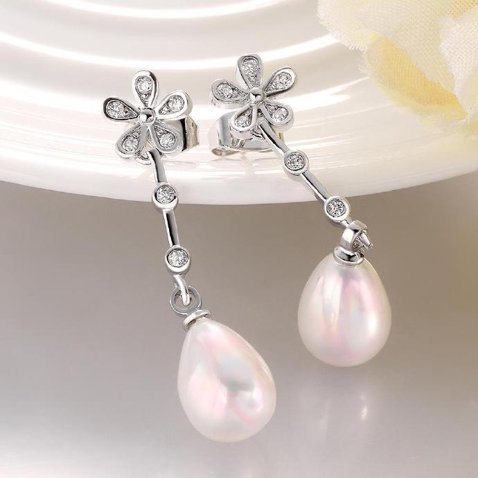 Jenny Jewelry E048 Brilliant Tiny Artificial Pearl Earring
