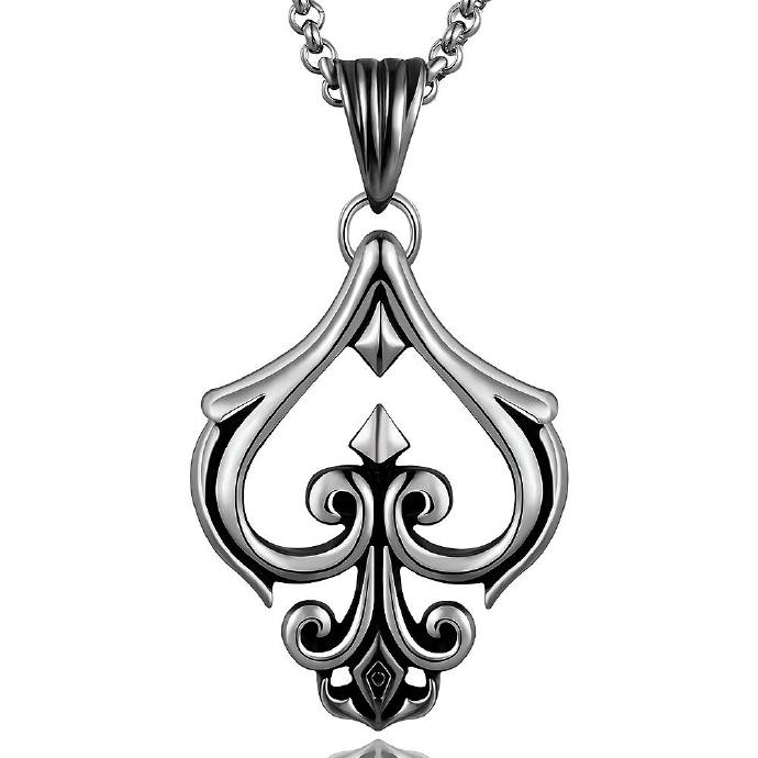 Jenny Jewelry N005 Titanium fashion chain 316L stainless steel vintage pendant necklace