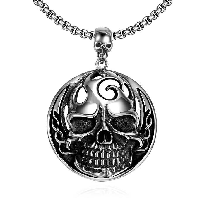 Jenny Jewelry N024 Titanium fashion chain 316L stainless steel vintage pendant necklace