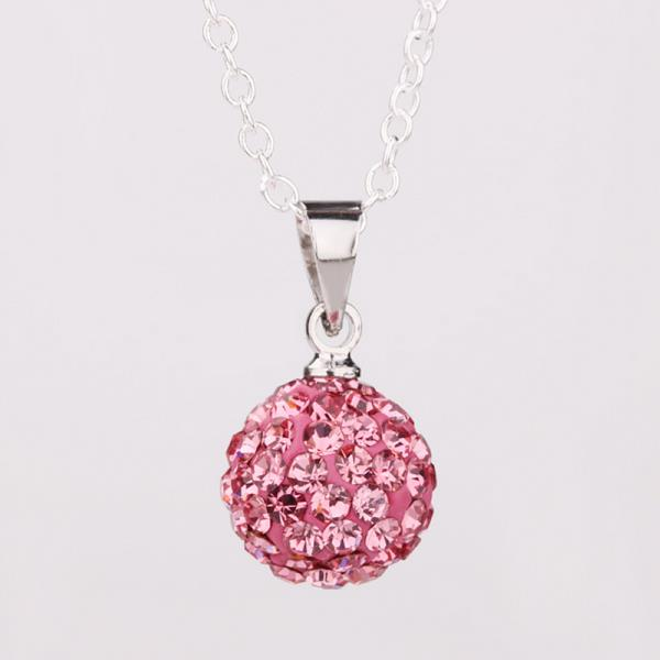 Jenny Jewelry P001 Mix color jewelries necklace pendant Necklace Crystal Silver jewelry for women