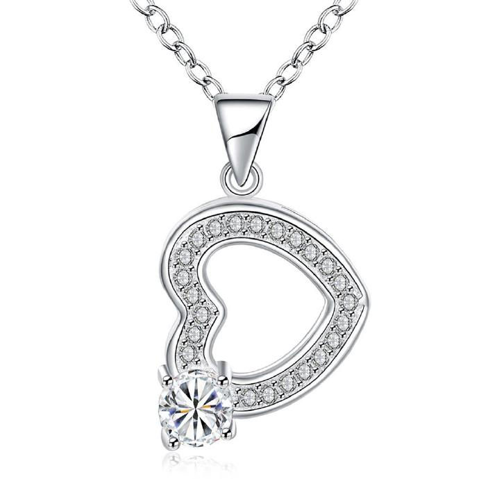 Jenny Jewelry N002 Silver plated necklace brand new design pendant necklaces jewelry for women