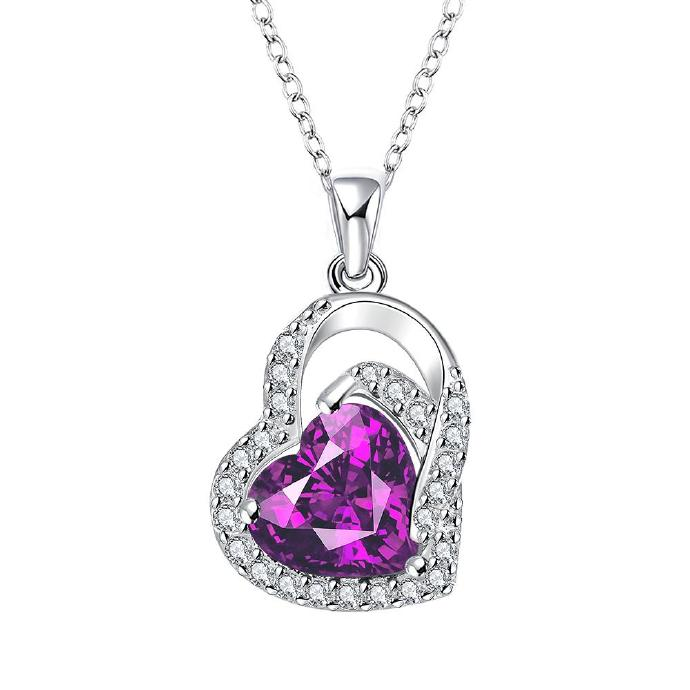 Jenny Jewelry N020-A Silver plated necklace brand new design pendant necklaces jewelry for women