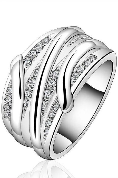 Jenny Jewelry R572 Silver Plated New Design Lady Ring