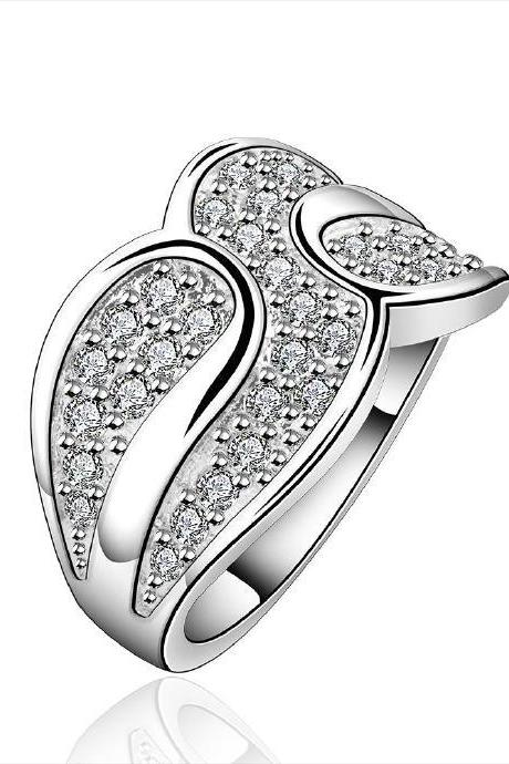Jenny Jewelry R581 Silver Plated New Design Lady Ring
