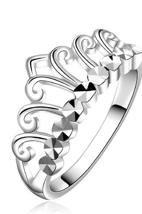 Jenny Jewelry R586 Silver Plated New Design Lady Ring
