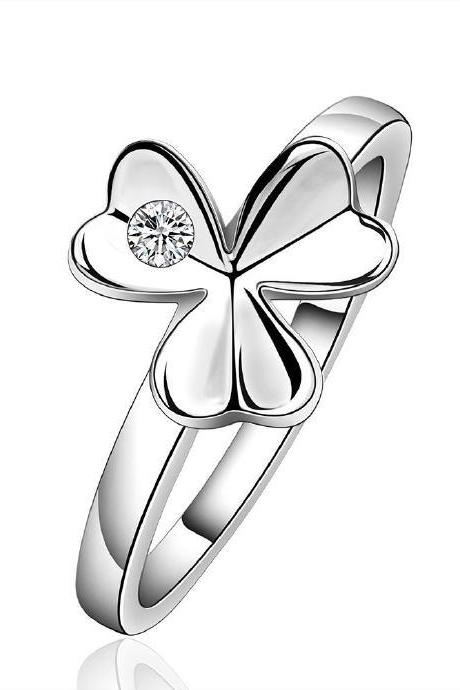 Jenny Jewelry R590 Silver Plated New Design Lady Ring