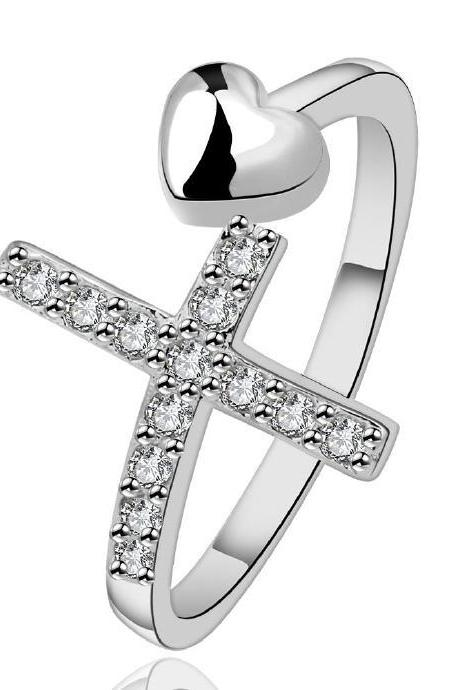 Jenny Jewelry R592 Silver Plated New Design Lady Ring ,Available Size 8