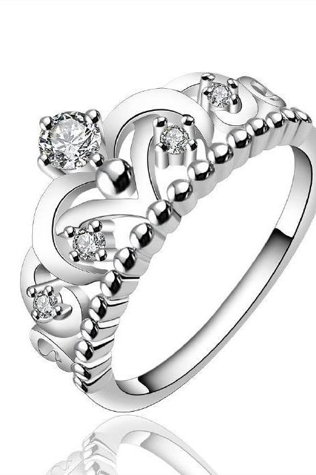 Jenny Jewelry R601 Silver Plated New Design Lady Ring