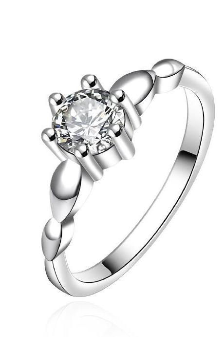 Jenny Jewelry R608 Silver Plated New Design Lady Ring
