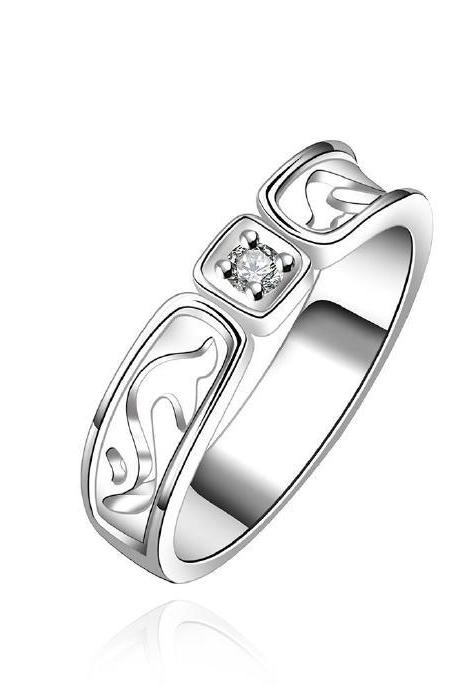 Jenny Jewelry R610 Silver Plated New Design Lady Ring