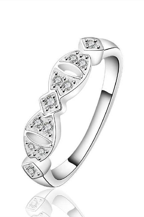 Jenny Jewelry R624 Silver Plated New Design Lady Ring