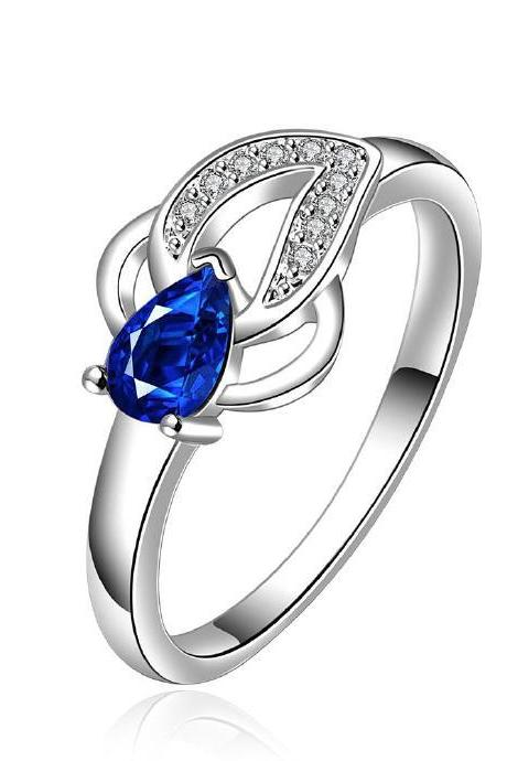 Jenny Jewelry R651 Silver Plated New Design Lady Ring