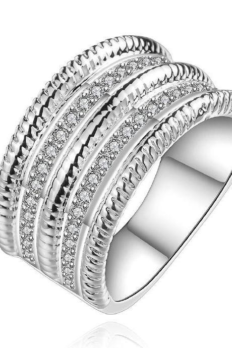 Jenny Jewelry R659 Silver Plated New Design Lady Ring