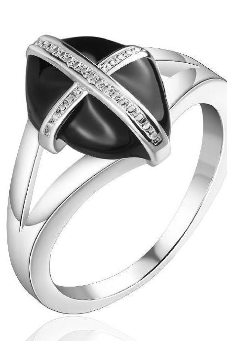 Jenny Jewelry R670 Silver Plated New Design Lady Ring