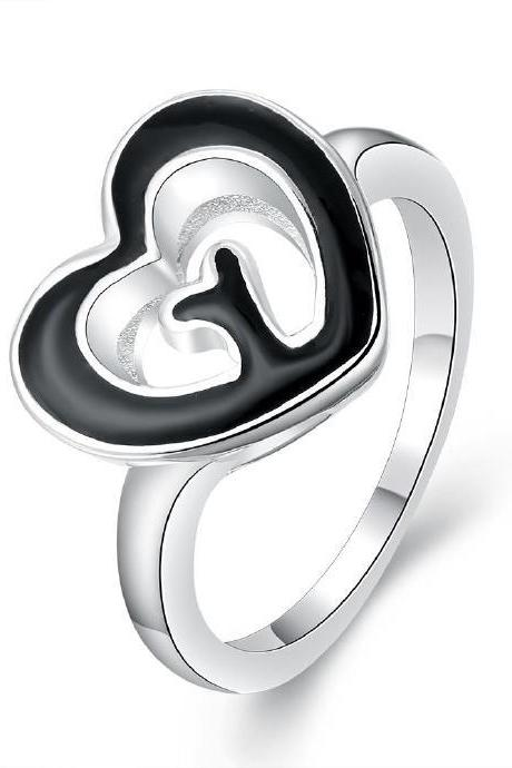 Jenny Jewelry R676 Silver Plated New Design Lady Ring