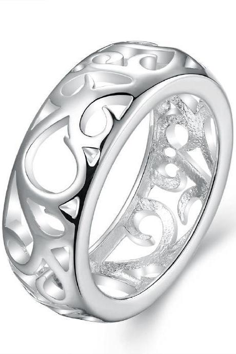 Jenny Jewelry R679 Silver Plated New Design Lady Ring