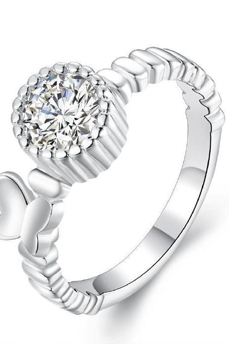 Jenny Jewelry R683 Silver Plated New Design Lady Ring