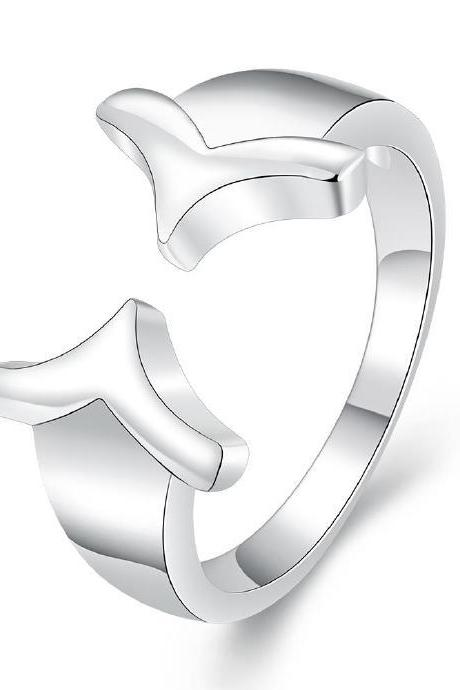 Jenny Jewelry R696 Silver Plated New Design Finger Ring