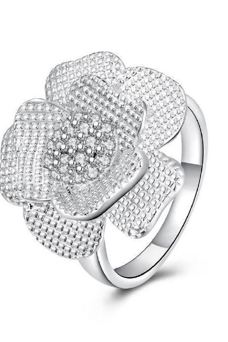 Jenny Jewelry R695 Silver Plated New Design Lady Ring