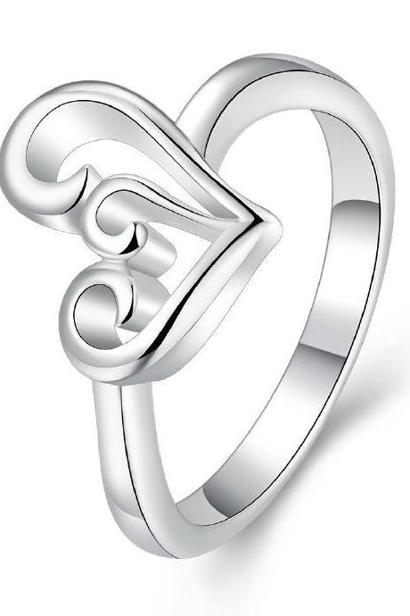Jenny Jewelry R700 Popular wholesale silver Plated Ring for girl
