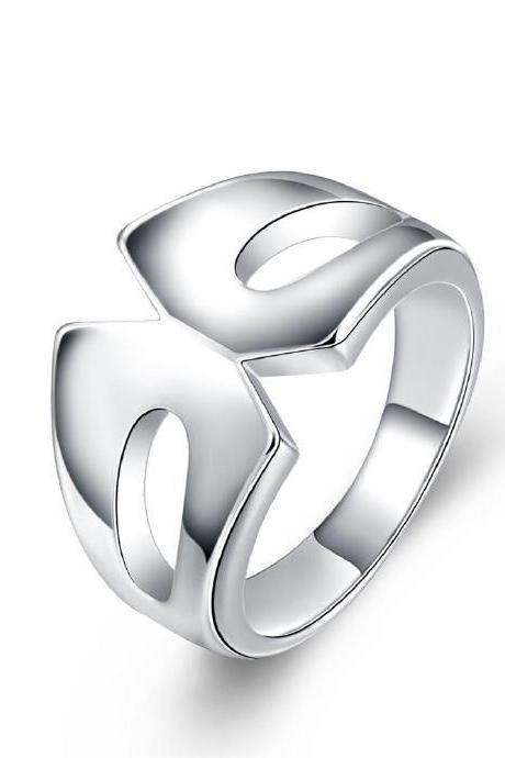 Jenny Jewelry R729 Silver Plated New Design Lady Ring