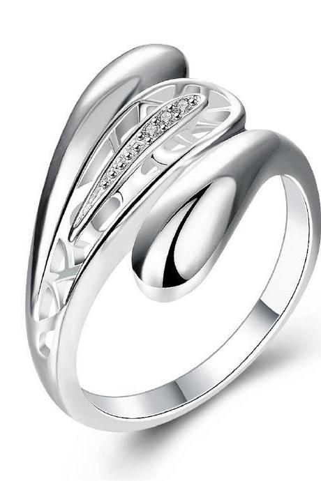 Jenny Jewelry R746 Silver Plated New Design Lady Ring