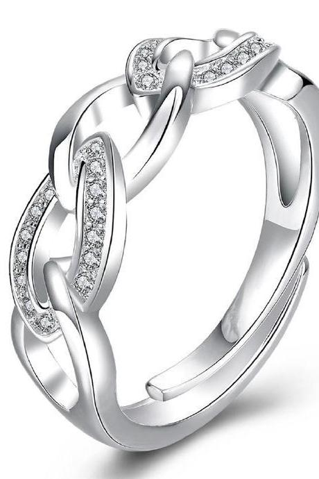 Jenny Jewelry R748 Silver Plated New Design Lady Ring ,Available Size 8