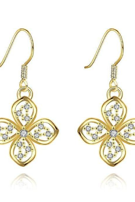 Jenny Jewelry E018-A 18K Gold Plating High Quality Ziccon Fashion Earring