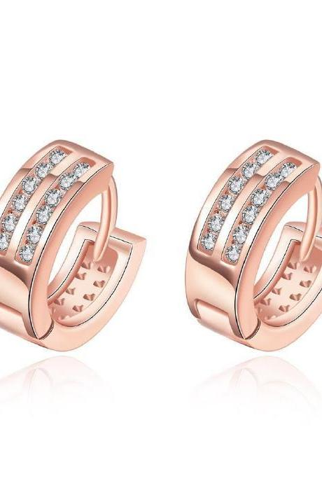 Jenny Jewelry E036-B 18K Gold Plating High Quality Ziccon Fashion Earring