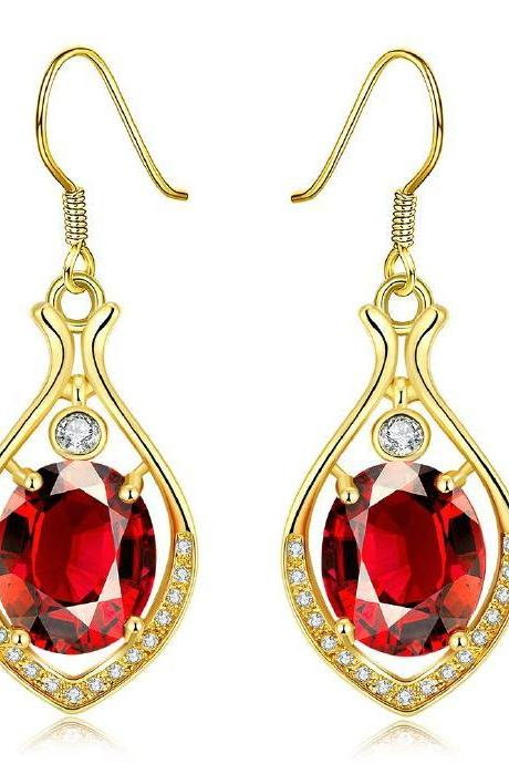 Jenny Jewelry E066-A Graceful Inlaid White Zircon Different Types New Gift Earring