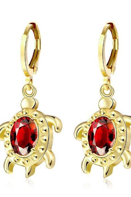 Jenny Jewelry E087 18K Gold Plating High Quality Ziccon Fashion Earring