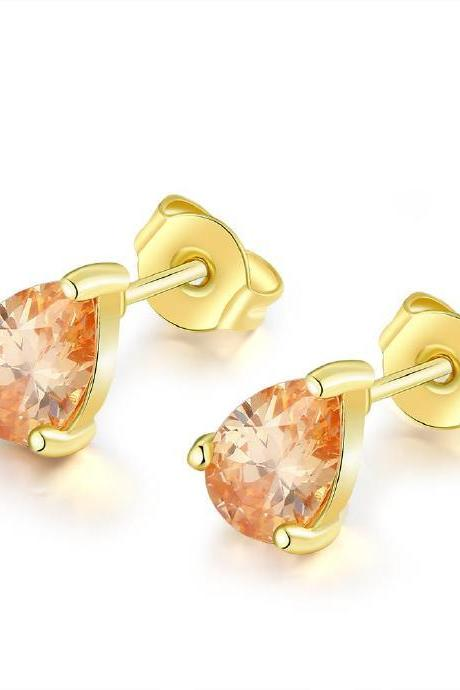 Jenny Jewelry E005 New Fashion Jewelry Real Gold Plated Earring