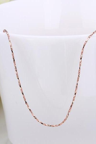 Jenny Jewelry C002 18K gold plated long chain