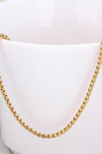 Jenny Jewelry C016 18K gold plated long chain