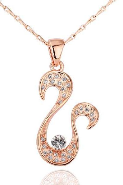 Jenny Jewelry N190 18K Real Gold Plated Necklace pendants New Fashion Jewelry For Women