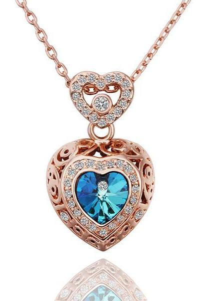 Jenny Jewelry N559 Top Selling Nickel Heart Shape Big Stone Fashion Pendant