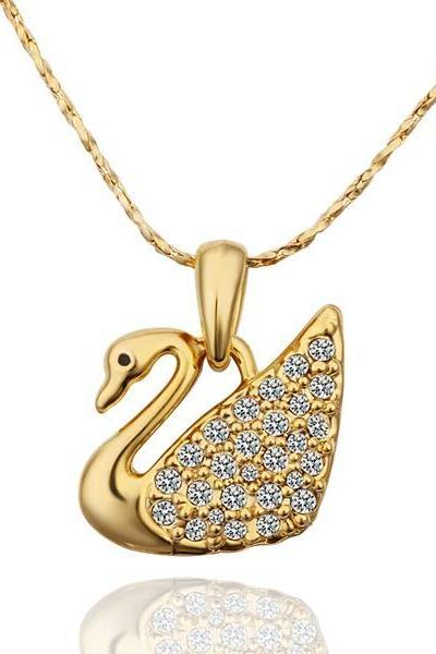 Jenny Jewelry N597 18K Real Gold Plated Necklace animal pendants New Fashion Jewelry